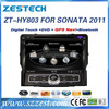 ZESTECH Factory OEM CE/FCC/ROHS certification and 8 inch 2 din car radio for Hyundai SONATA 2011