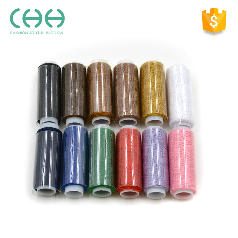 Promotional dying technics polyester fibre colorful sewing machine threads