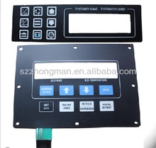 Customized metal dome membrne keypad with transparent window
