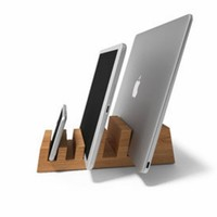 PC Notebook Universal Monitor Stand Solid Wood Riser Stand for iMac phone tablet