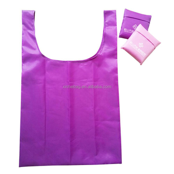 soft 190t foldable recycled vest polyester bag