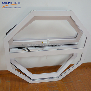 Aluminum profile double tempered glass awning window