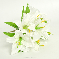 Factory Direct Sale Cheap High Quality Silk Artificial Easter Lily Flowers For Decor