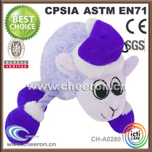 Purple plush teddy sheep toy, plush toy sheep pillow, cute plush sheep