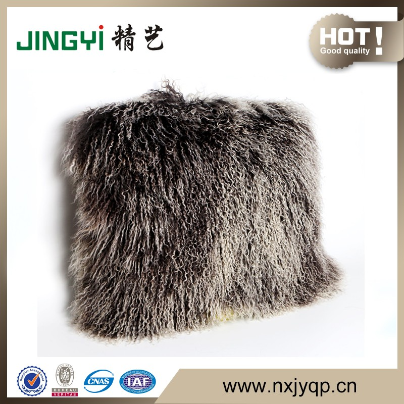 Wholesale Tibetan Mongolian Lamb Fur Cushion Cover
