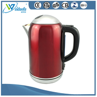 1.8L Red color stainless steel electric water kettle with ETL approved