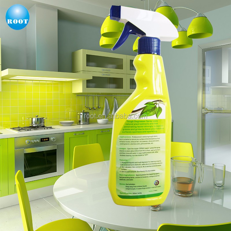 Removing Tough Stains Bio Degreaser for Kitchen Cleaning & Shining
