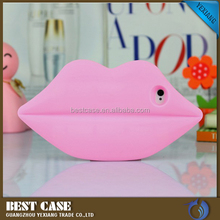 Hot Selling Big Lips Silicon Bumper Back Cover Case For iPhone 5