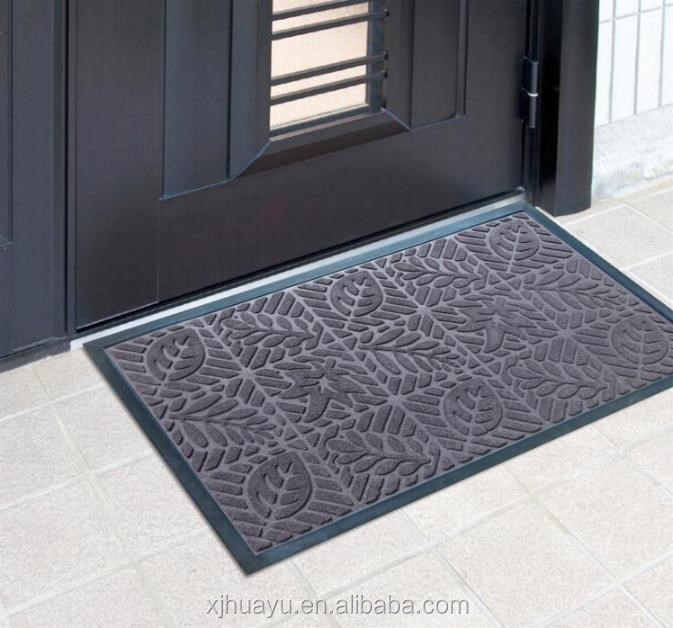 Door Mat for entrance recycled rubber polyester floor mat