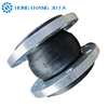 pipe compensator double ball rubber expansion joint