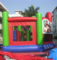 HOLA red inflatable inflatable combo/inflatable games