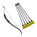 Combat archery equipment package set with arrow tag and low draw weight bows
