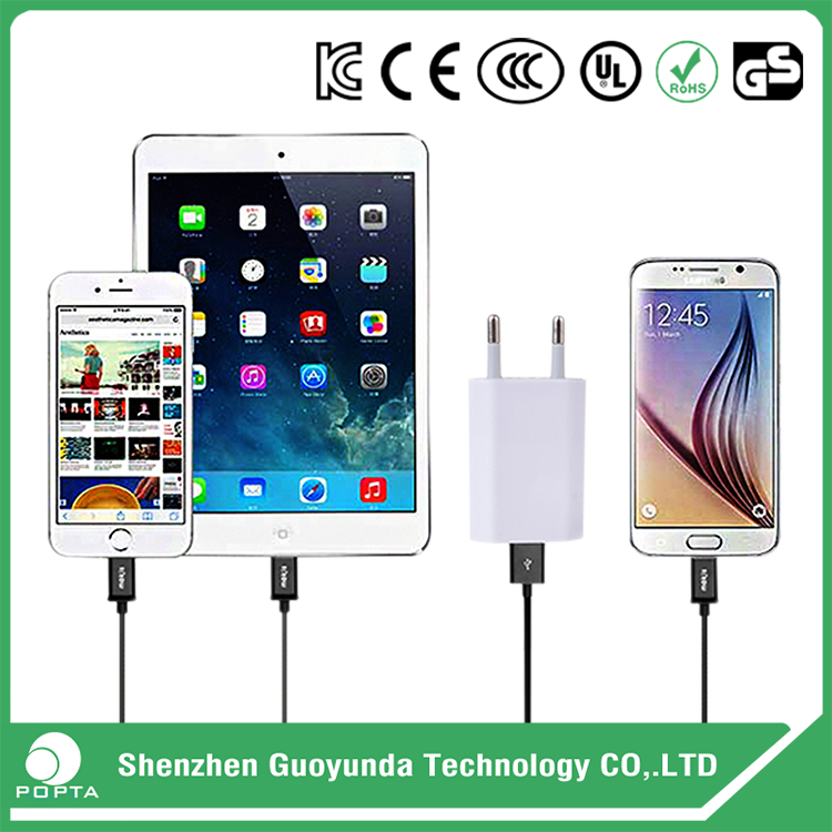 GuoYunDa 5v 1a charger, 3 in 1 travel charger kit, 5v 3a usb charger adapter