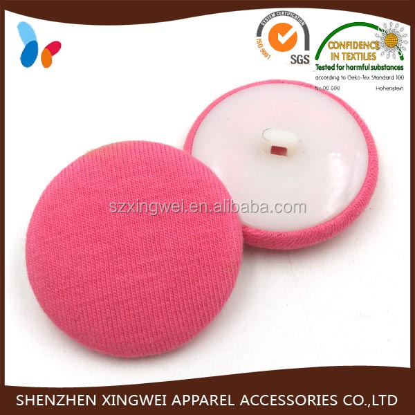 custom fashion colored plastic covered shank button