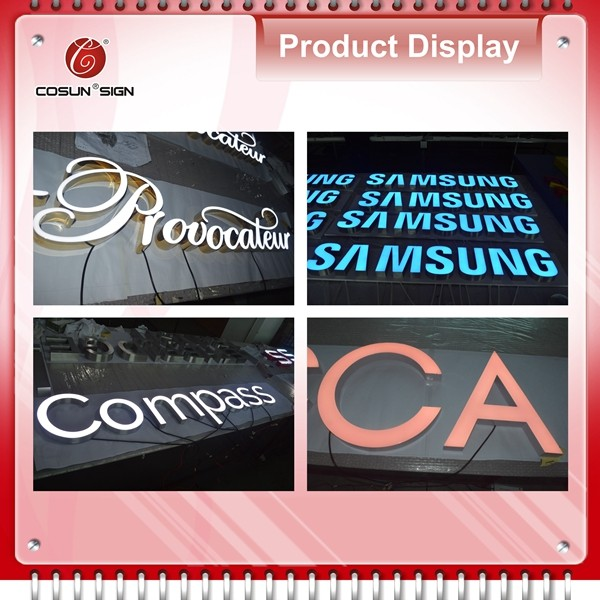 Outdoor led advertising sign letter,3d plastic acrylic letters