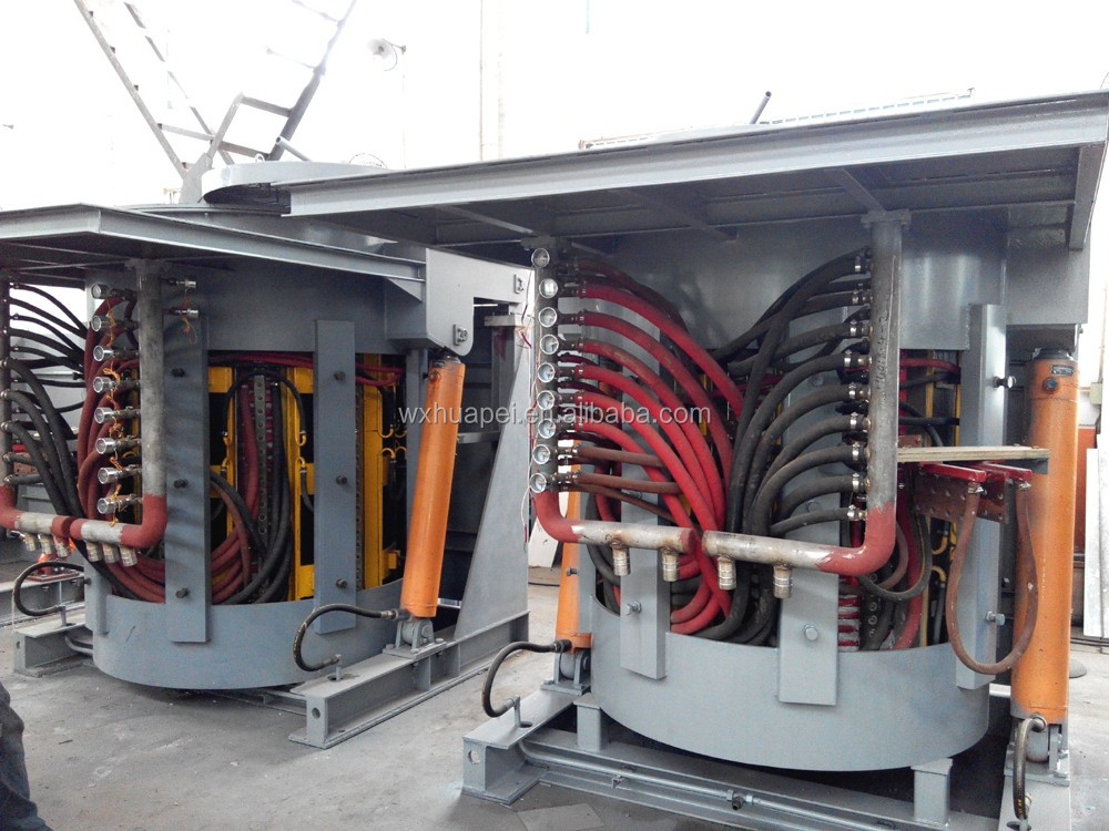 5ton electric medium frequency induction melting furnace for steel