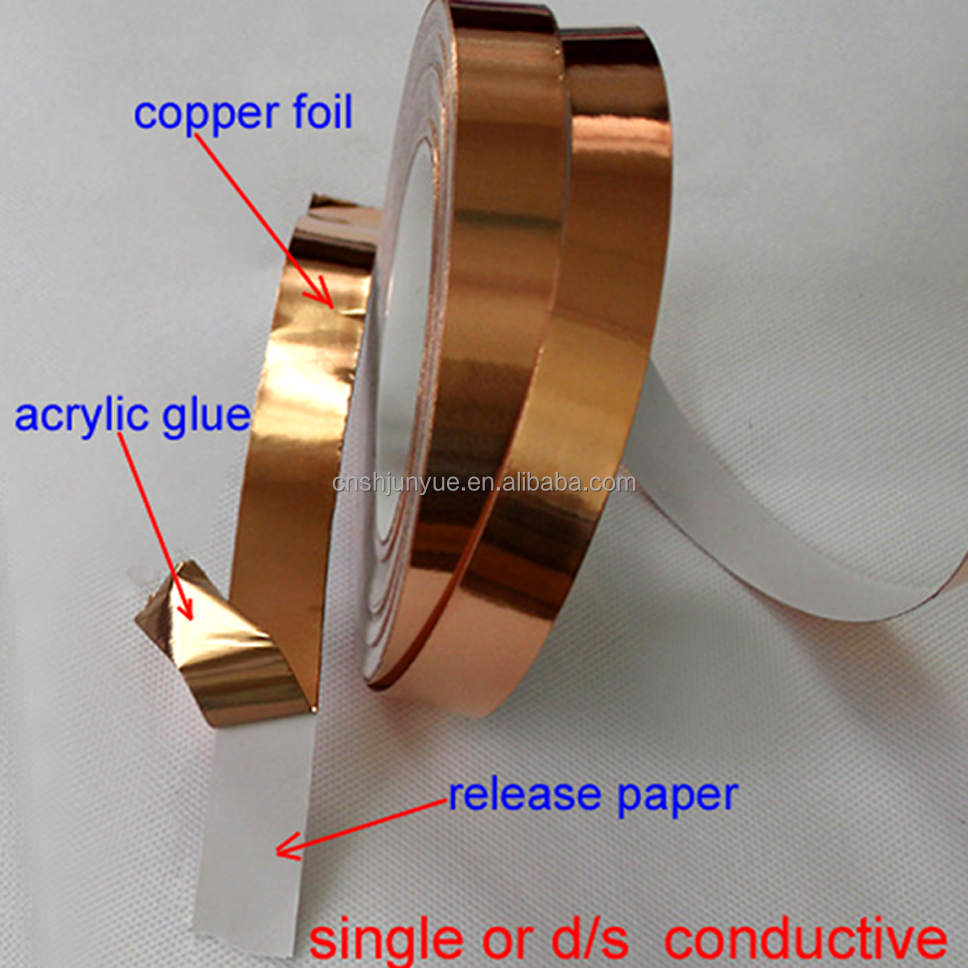 insulation conductive adhesive gold aluminum copper foil tape original factory