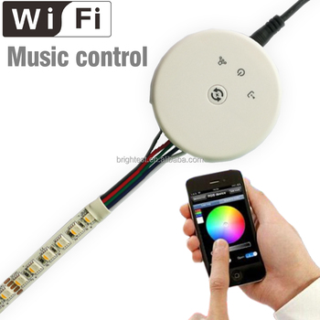 DC12-24V RGBW wifi LED Controller Wifi. Music control Wifi Controller for RGBW 4 Color led strip
