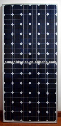 185W24V mono solar panel made of Solar World solar cells