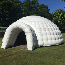Outdoor Giant party inflatable yurt tent inflatable lawn dome tent large inflatable igloo tent for rental sale