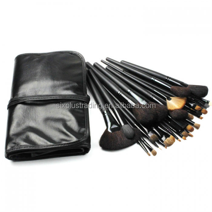 32 pcs cosmetic makeup brushes roll bag pouch / 32 pcs makeup brushes set / cosmetics artist brushes set