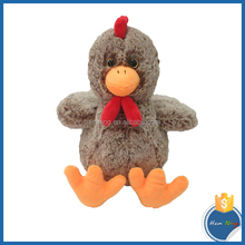 22cm color rooster chicken promotion gift plush toy