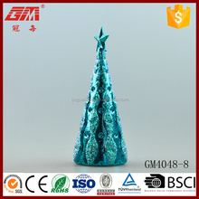christmas table decoration glass tree decoration