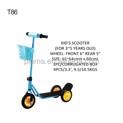 T86 Kids pedal scooter for 3 to 5 years old