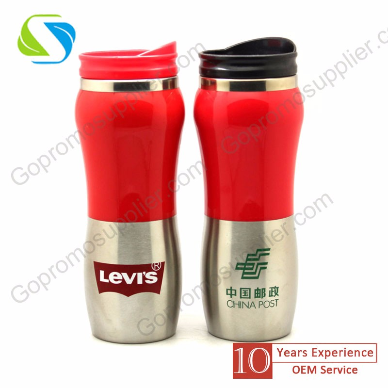 advertising promotion custom logo printed 500ml new stainless steel vehivle car vacuum cup price