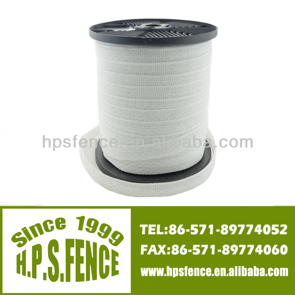 2014 hot sell electric fence farm designs wood fencing polytape for animal fencing