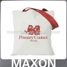 top quality plain white cotton canvas tote bag made in guangdong