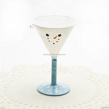 wholesale martini glass, Christmas theme design glassware, martini glass goblet for holiday celebration