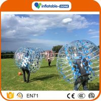 Top quality bubble football equipment buddy bumper ball 2m inflatable water bubble football