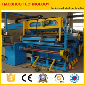 Low voltage foil winding machine for dry type transformers