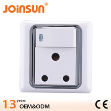 South africa 15A round wall switch socket,electric socket eu