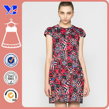 Textile printing rose rockabilly dress