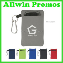 Carabiner Decorated Neoprene Foam Phone Case