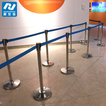 Office steel barricade crowd control barrier supermarket 2 meter line stainless steel barrier