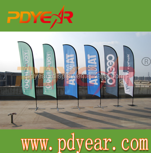 3.40m concave beach banner advertising flag printing machine