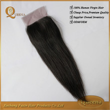 Wholesale Cheap 100% Unprocessed Raw Virgin Human Hair 8inch Lace Closure
