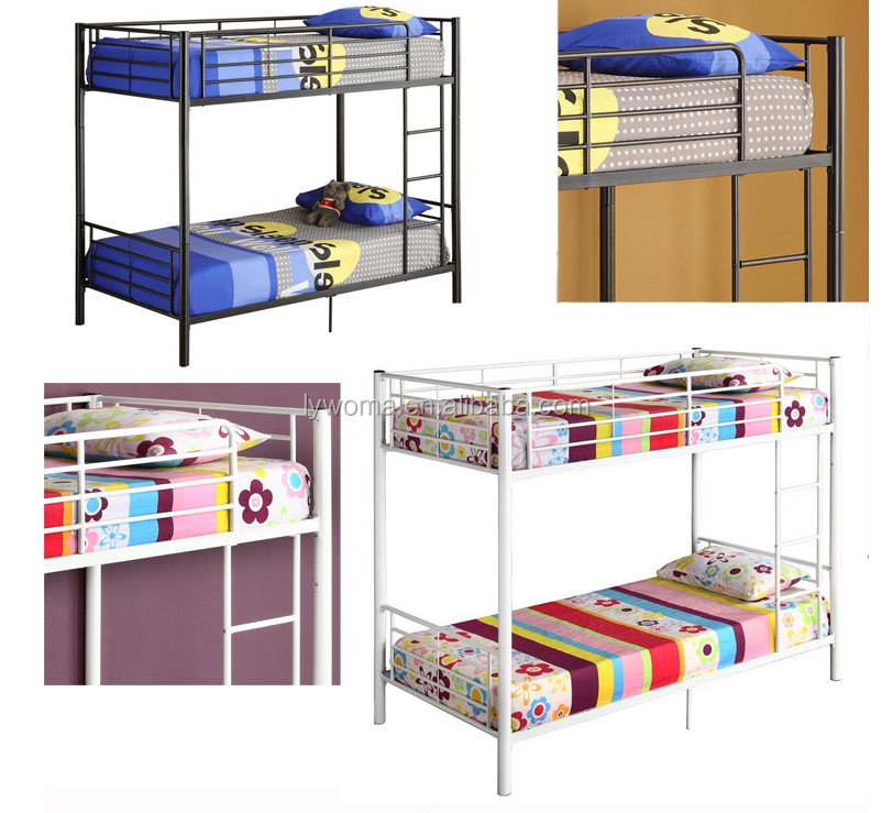 School furniture 2 tiers unique adult cheap metal used bunk bed sale