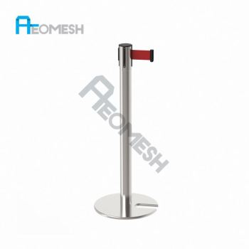 AEOMESH Queue Line Stand Pole Retractable Belt Barrier Stanchions