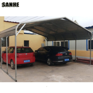 cheap prefab portable regular roof style steel metal carports covers for sale for 1/ 2 / 3 car