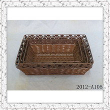 cheap rectangular plastic bakery basket for bread and fruit wholesale