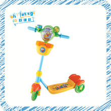 three wheels plastic kids scooter with aerolian bell