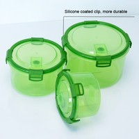 Online shop china safe FDA 4 sides clip biodegradable microwave food container