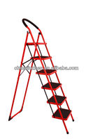 En131 iron step ladder, stainless steel folding ladder step stool