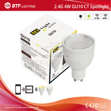 Mi light ct ampolleta led gu10, 4 w bombilla led gu10, 4 w reflector led bombilla