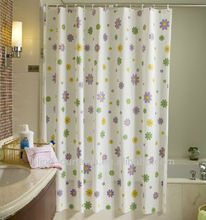 standard bathroom window size printed hookless shower curtain