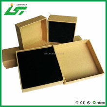 custom hard brown kraft paper box gift greeting cards thick packaging craft box